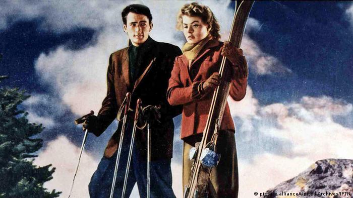 Ich kämpfe um dich: Gregory Peck und Ingrid Bergman in Ski-Szene (picture alliance/United Archives/IFTN)