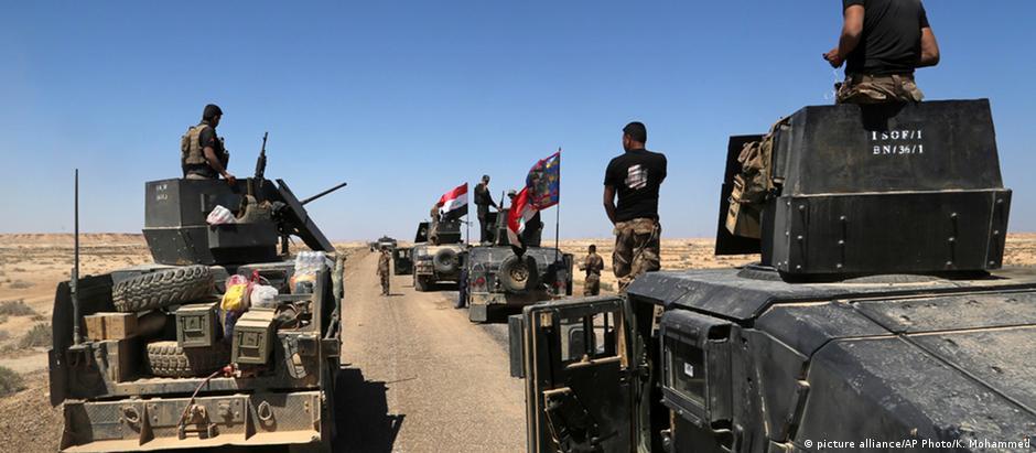 Tropas iraquianas avançam em direção a Mosul