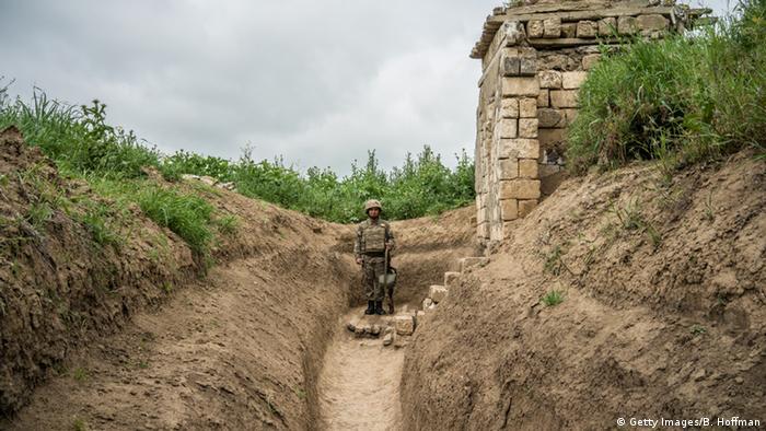 Линия соприкосновения в Нагорном Карабахе
