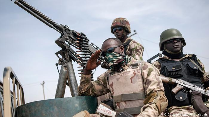 Nigerian soldiers in Damboa