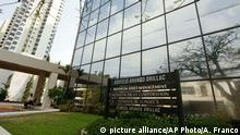 3.4.2016 *** A marquee of the Arango Orillac Building lists the Mossack Fonseca law firm in Panama City, Sunday, April 3, 2016. German daily Sueddeutsche Zeitung says it has obtained a vast trove of documents detailing the offshore financial dealings of the rich and famous. The International Consortium of Investigative Journalism says the latest trove contains includes nearly 40 years of data from the Panama-based law firm, Mossack Fonseca. The company didn't immediately respond to a request for comment. (AP Photo/Arnulfo Franco) picture alliance/AP Photo/A. Franco