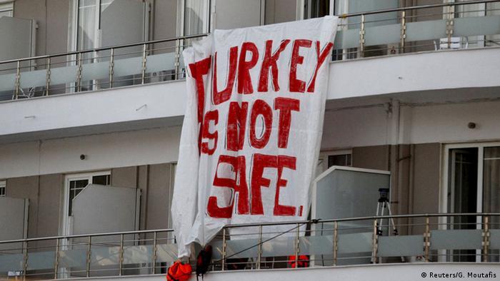 Griechenland Lesbos Proteste gegen Rückführung von Migranten in die Türkei