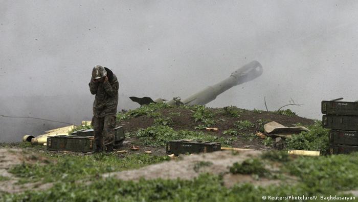 Berg-Karabach Kämpfe bei Martakert