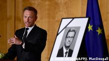 04.04.2016+++++++Chairman of Germany's free democrats party (FDP) Christian Lindner addresses guests during a memorial ceremony for former German foreign minister Guido Westerwelle at the foreign ministry in Berlin on April 4, 2016. / AFP / John MACDOUGALL (Photo credit should read JOHN MACDOUGALL/AFP/Getty Images). Copyright: Getty Images/AFP/J. MacDougall