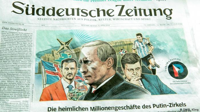 Capa do jornal Süddeutsche Zeitung