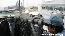 Dschibuti im Hafen Japanisches Militär