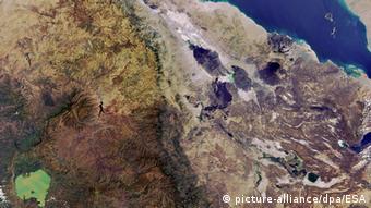 Satelittenfoto Dschibuti und Rotes Meer