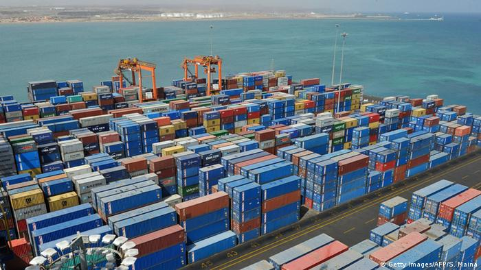 Dschibuti Containerhafen und Rotes Meer, Copyright: Getty Images/AFP/S. Maina