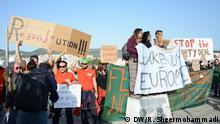 Griechenland Proteste gegen den Transport der Flüchtlinge von Griechenland in die Türkei