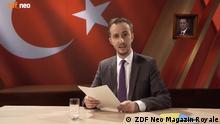 31.03.2016+++++ Jan Böhmermann in ZDF Neo Magazin Royale rezitiert Gedicht über türkischen Präsidenten Recep Erdogan , Schmähkritik , Der Beitrag wurde aus der ZDF Mediathek entfernt. Copyright: ZDF Neo Magazin Royale