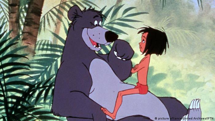 Mogli und sein Freund Balu, der Bär. Zeichentrickfilm von 1967 (picture alliance/United Archives/IFTN)