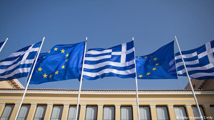 Flaggen Griechenland Europäische Union Athen (Getty Images/M.Cardy)
