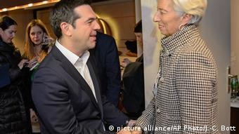 O Πρωθυπουργός Αλέξης Τσίπρας με την επικεφαλής του ΔΝΤ Κριστίν Λαγκάρντ
