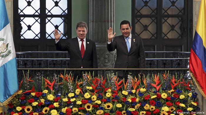 Guatemala Juan Manuel Santos und Jimmy Morales