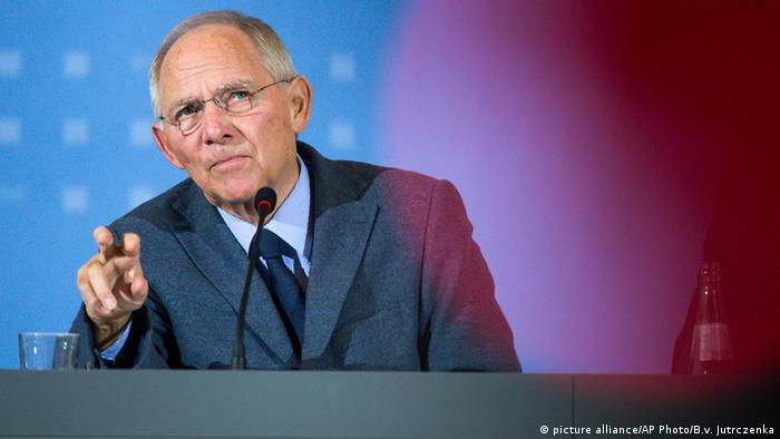 Deutschland Wolfgang Schäuble (picture alliance/AP Photo/B.v. Jutrczenka)