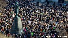Island Proteste gegen Premierminister Gunnlaugson