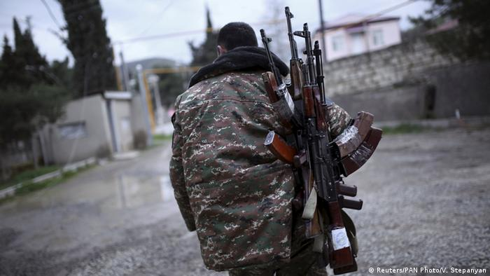 Armed man in Nagorno-Karabakh