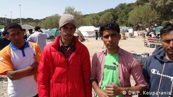 Пакистанские мигранты на острове Лесбос