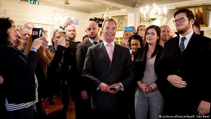 EU-sceptic Nigel Farage at the Geenpeil Event in Volendam