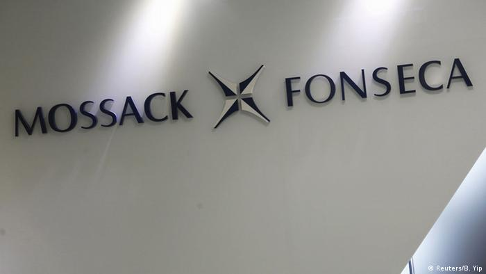 The company logo of Mossack Fonseca is seen inside the office of Mossack Fonseca & Co. (Asia) Limited in Hong Kong, China April 5, 2016