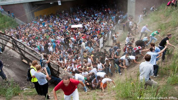 Deutschland Unglück bei der Loveparade in Duisburg