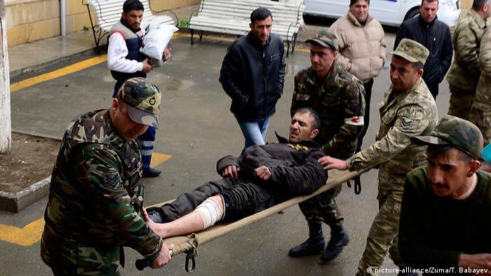 Aserbaidschan Bergkarabach Konflikt Verletzter
