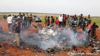 Syrien die Rebellen haben einen Kampfjet der syrischen Armee abgeschossen