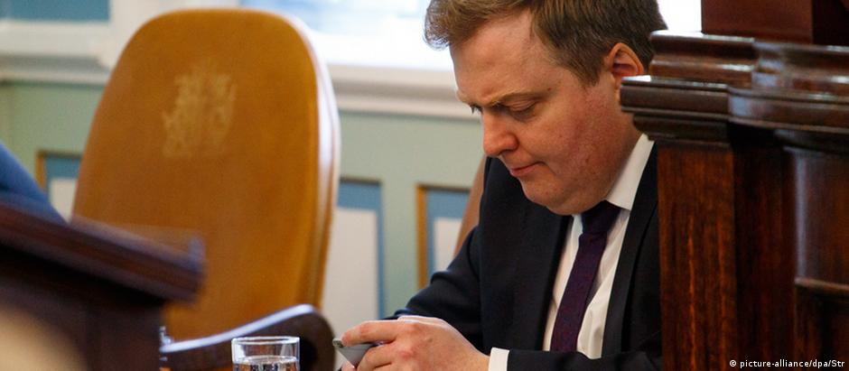 Primeiro-ministro islandês, Sigmundur David Gunnlaugsson