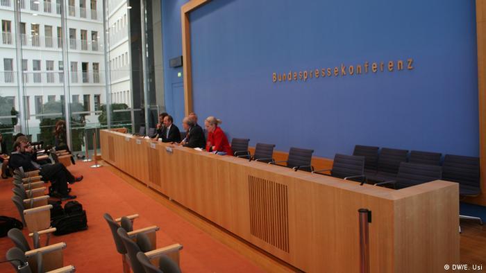 Salón de conferencias de la prensa alemana.