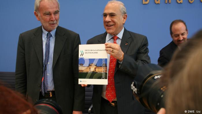 Gurría presentó el informe de la OCDE sobre Alemania.