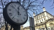 Ukriane Kiew Öffentliche Uhr