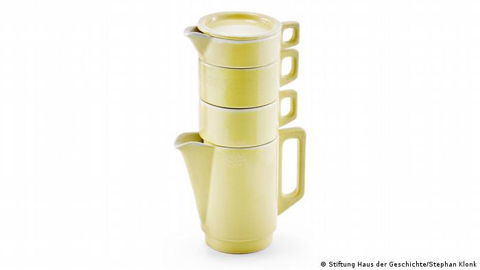 Stackable tea set, Copyright: Stiftung Haus der Geschichte / Stephan Klonk