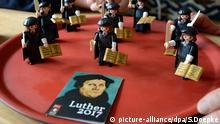 28.10.2015 Martin Luther Playmobil Figur anlässlich der Luther Jahres 2017 zu 500 Jahre Reformation. Neustadt, 28.10.2015 © picture-alliance/dpa/S.Doepke