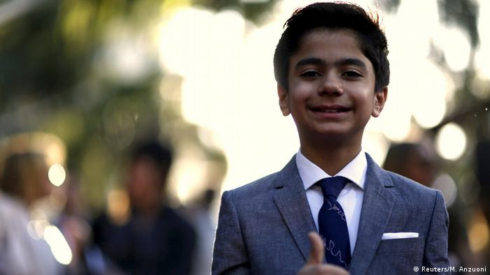 Mogli-Darsteller Neel Sethi bei der Filmpremiere in Hollywood. © 2015 Disney Enterprises