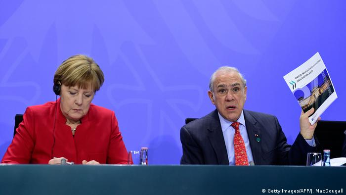 Deutschland Treffen Angela Merkel & internationale Finanz-Chefs (Getty Images/AFP/J. MacDougall)