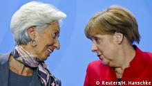 Deutschland Treffen Angela Merkel & internationale Finanz-Chefs - Christine Lagarde
