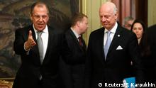 Russland Moskau Treffen Sergej Lawrow & Staffan de Mistura