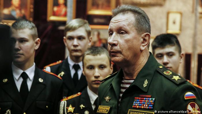 Viktor Zolotov was also the commander of Russia's internal troops, which now comprise the National Guard