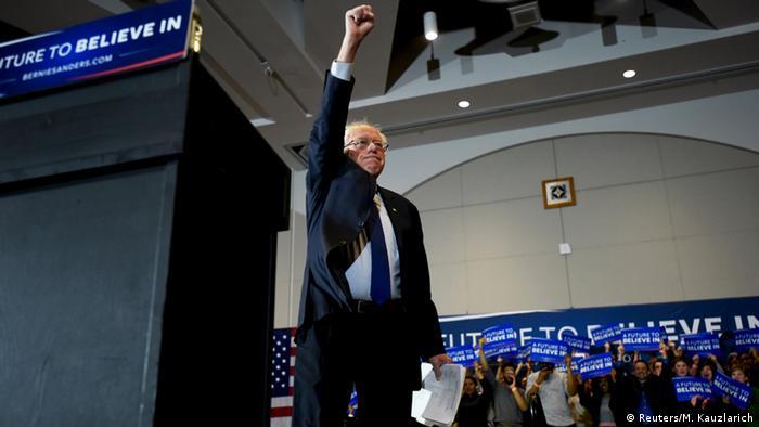 US Vorwahlen Präsidentschaftskandidat Bernie Sanders