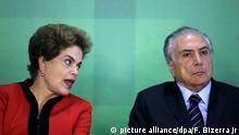 Brasilien Präsident Dilma Rousseff und Michel Temer Vizepräsident