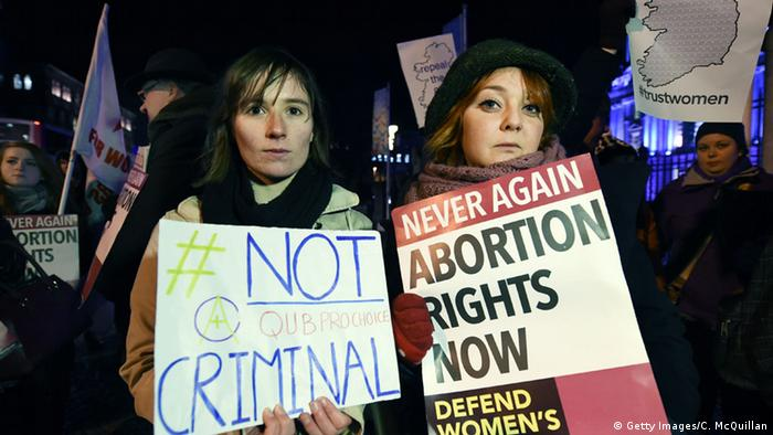 Pro-choice protesters in Northern Ireland
