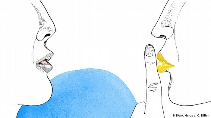 Reden ist silber, Schweigen ist gold, Illustration, Copyright: DW/ A. Herzog, C. Dillon