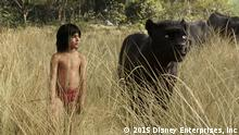 """+++ Achtung: Nur zur aktuellen Berichterstattung über den Film verwenden! +++ Mowgli (newcomer Neel Sethi) and Bagheera (voice of Ben Kingsley) embark on a captivating journey in """"The Jungle Book,"""" an all-new live-action epic adventure about Mowgli, a man-cub raised in the jungle by a family of wolves, who is forced to abandon the only home he's ever known. In theaters April 15, 2016. © 2015 Disney Enterprises, Inc. All Rights Reserved."""