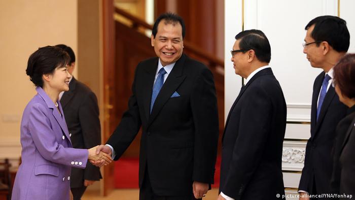 Chairul Tanjung trifft Park Geun-hye