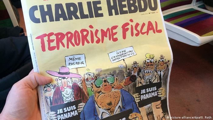 Frankreich Charlie Hebdo Cover Je suis Panama