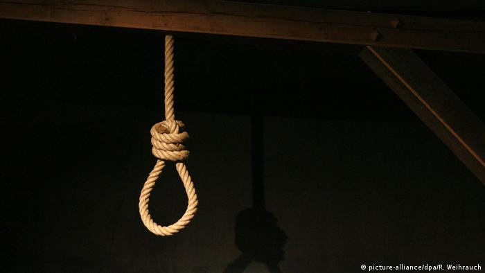 A representational picture of a gallows