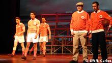 Szenen des Musicals Eusébio - um Hino ao Futebol (Eusébio, eine Fußballhymne) über Fußball-Legende Eusébio da Silva Ferreira. Copyright: DW/J. Carlos