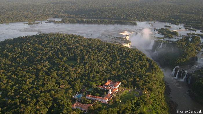 Hotel on the top of Iguazu Falls