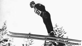 Georg Thoma Ski Legende 1960 beim Training