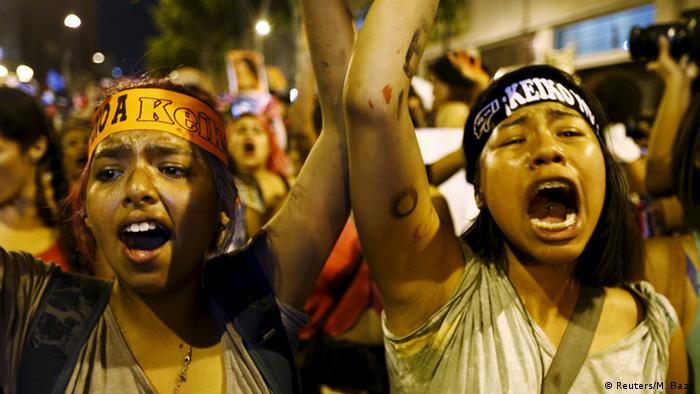 Peru Demonstration gegen Keiko Fujimori in Lima